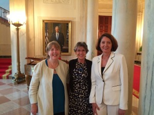 Nancy Lundebjerg (AGS CEO), Robyn Stone (ED, LeadingAge Center for Applied Research) and Cheryl Phillips (LeadingAge SVP of Public Policy & Advocacy)